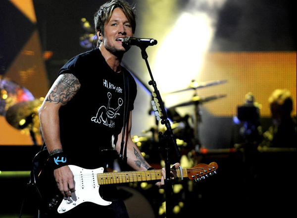 Keith Urban, Brett Eldredge & Maren Morris at Xfinity Center
