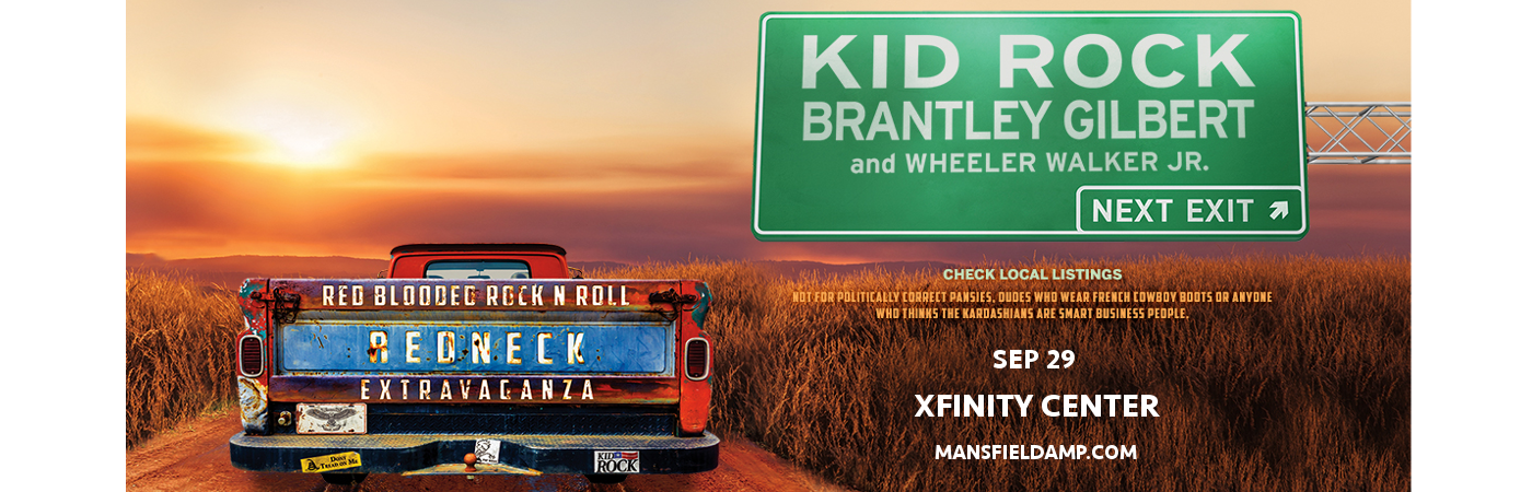 Kid Rock, Brantley Gilbert & Wheeler Walker Jr. at Xfinity Center