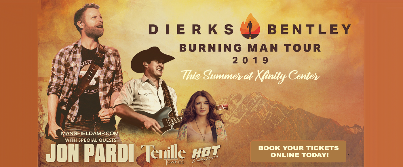 Dierks Bentley, Jon Pardi & Tenille Townes at Xfinity Center