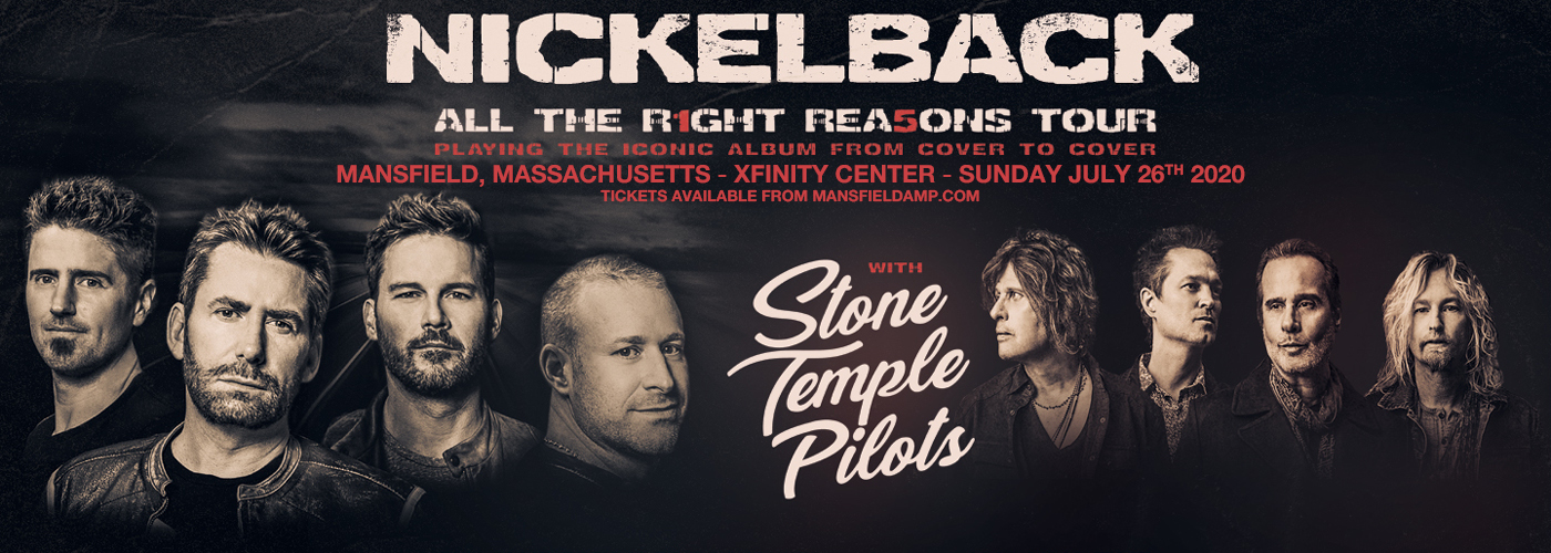 Nickelback, Stone Temple Pilots & Tyler Bryant and The Shakedown at Xfinity Center