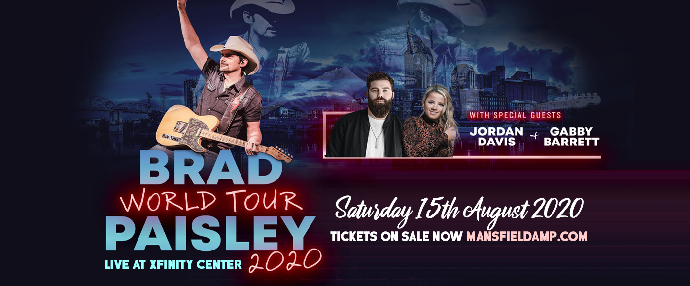 Brad Paisley, Jordan Davis & Gabby Barrett at Xfinity Center