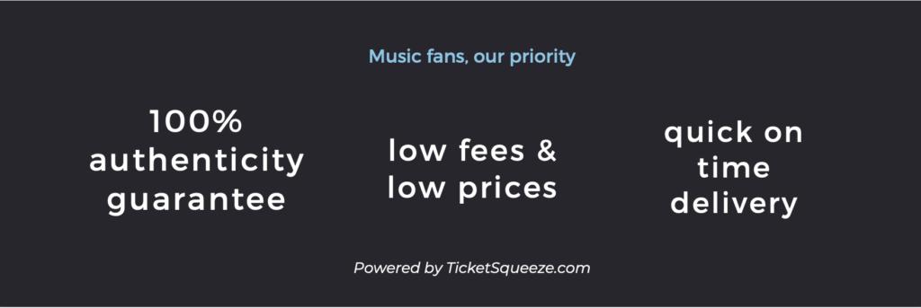xfinity center ticket guarantees