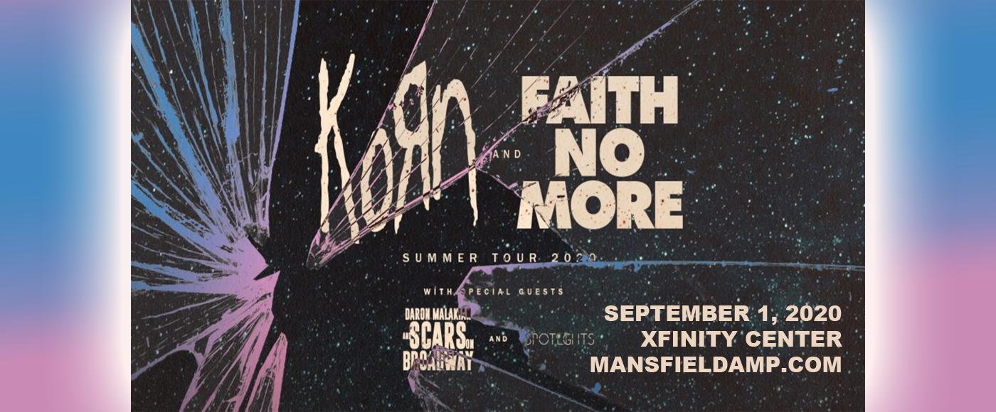 Korn, Faith No More, Helmet & '68 at Xfinity Center